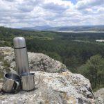 В кипятке в термосе прямо в горах заварить чобан чай (пополам чабрец и лимонник)