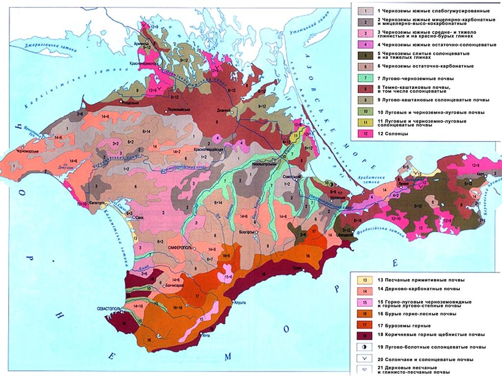 Почвенная карта Крыма