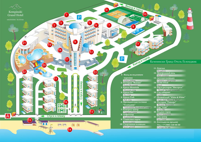 пример функционального зонирования территории приморского отельного комплекса