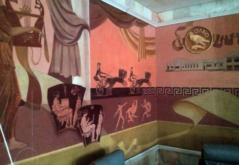 роспись стен во дворце культуры Парутино, второй этаж