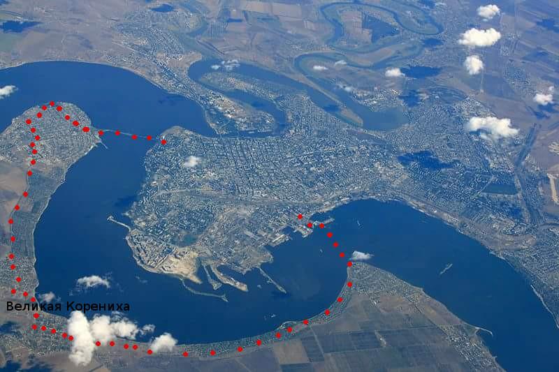 Николаев на снимке из космоса и самый интересный кольцевой маршрут к Великой Коренихе через Южный Буг