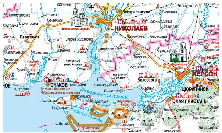Туристические достопримечательности юга Николаевской области