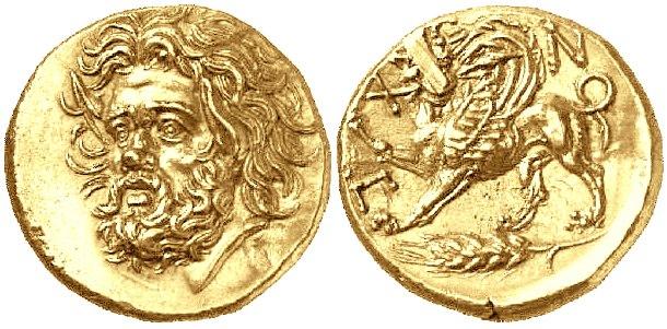 Золотая монета, известная как статер Атея, имела хождение спустя несколько десятилетий после его смерти по всему Северному Причерноморью