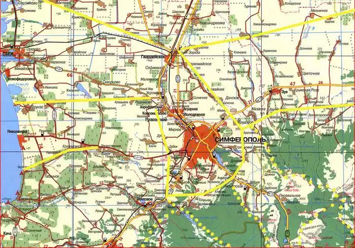 Большой Симферополь и дублер столицы Гвардейское. Перспективная транспортная схема объездных дорог, федеральная трасса Таврида, платные маршруты для внедорожников, морские курорты