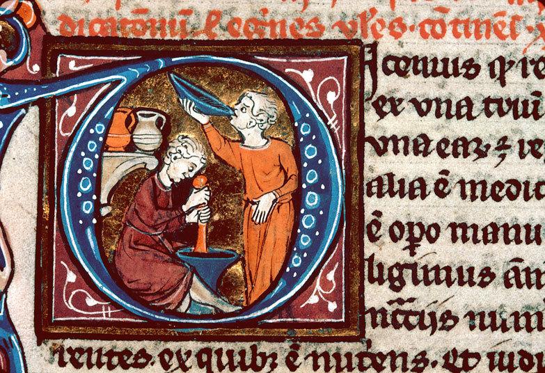 Винолечение в средние века, из трактата Авиценны