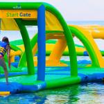 Парк активных водных аттракционов Wibit sports модульные конструкции из пластика
