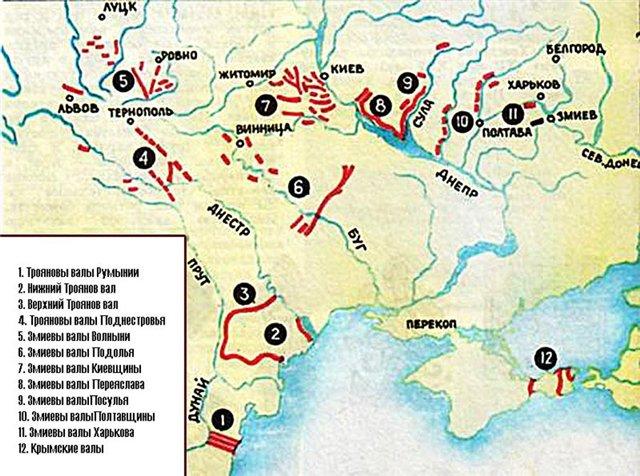 Группы оборонительных валов со рвами на юго-востоке Европы