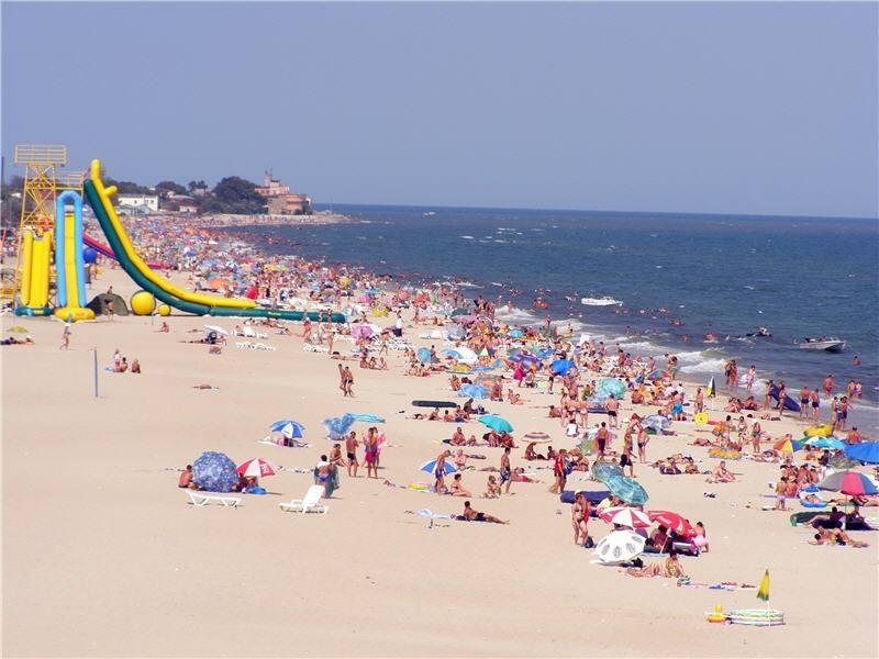 Пляж Затока на косе Каролино-Бугаз, Одесса