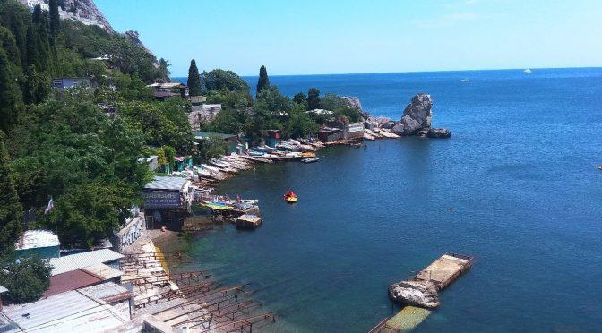 Gurzuf &  Artek in Crimea, Black Sea. Гурзуф, Артек и Медведь-гора. На английском и русском